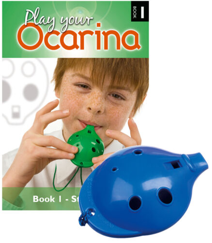 4-hole plastic Ocarina and Book 1 six colours OCARINA SET