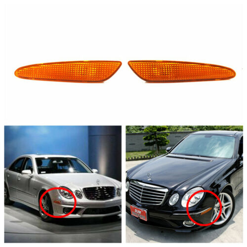 Fit Mercedes-Benz W211 03-06 Right/&Left Side Marker In Bumper Turn Signal Light