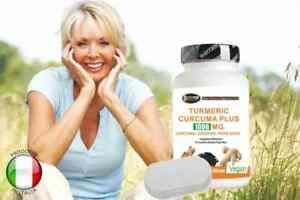 Turmeric Curcuma pepe nero e zenzero curcumina piperina Kurkuma + porta pillole