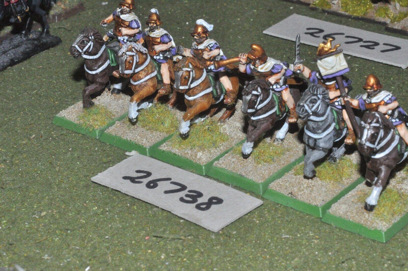 25mm classical   macedonian - heavy 6 figures - cav (26738)