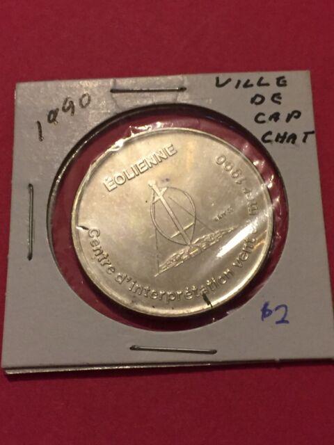 Token, 1990 Ville De Cap-Chat  $1 Coin Tokens Canada P13
