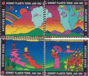 Suivi Des Vols Nations Unies - Genève 215-218 (complète Edition) Neuf Avec Gomme Originale 1992
