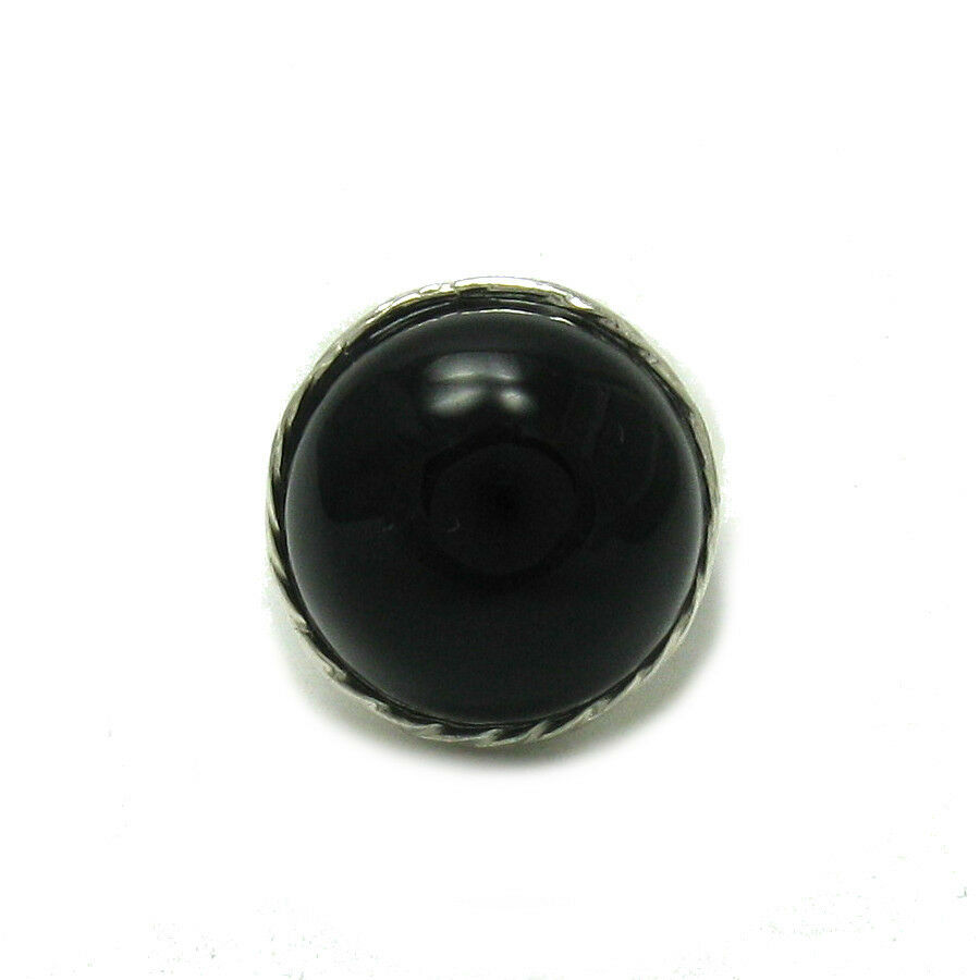 925 silver RING Handarbeit NATUERLICH black ONYX 20mm R001438 EMPRESS