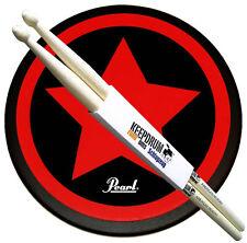 """Pearl PDR-08SP Practice Drum Pad Übungspad 8"""" + Keepdrum 5A Drumsticks"""