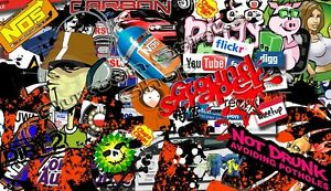 5 x  Pin up girls Sticker Bomb Euro Drift Vinyl Decal vw st vauxhall honda Dub