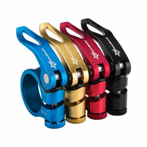 RockBros Road Bike MTB Seatpost 31.8mm Red Seat Post Clamp Quick Release QR