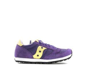 Caricamento dell immagine in corso Scarpe-SAUCONY -Donna-Sneakers-VIOLA-Scamosciato-Tessuto-1086- ebf1fc5c02c