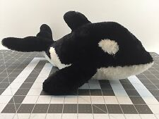 "AURORA® Plush Orca Killer Whale SHAMU SeaWorld© 15"" Length 7"" Tall FREE USA SHIP"