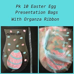 X10 easter presentation cello cellophane bag eggs gift party with image is loading x10 easter presentation cello cellophane bag eggs gift negle Image collections