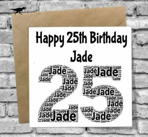 Image Is Loading PERSONALISED 25TH BIRTHDAY CARD DAUGHTER SON BROTHER SISTER