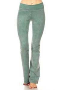 549243e514dc3 T-Party Mineral Wash Yoga Pants New Seafoam Green Color   eBay