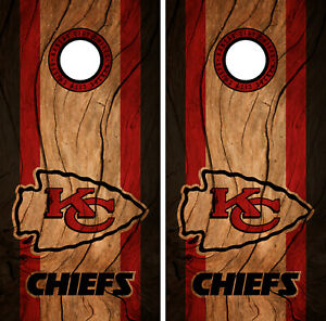 Kansas City Chiefs Cornhole Wrap Nfl Decal Wood Vinyl
