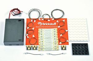 Costruzioni mattoni bianco caldo luci striscia led kit base per lego