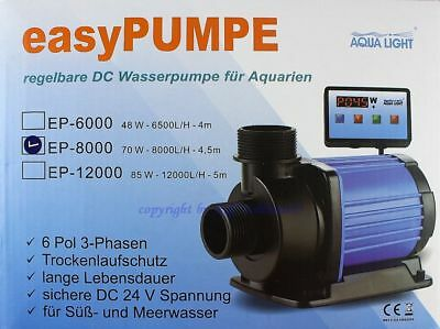 Easypumpe 24v-dc Sixpole Ep-8000 With Digital Control Pump Sweet Saltwater Products Are Sold Without Limitations Fish & Aquariums Pumps (water)