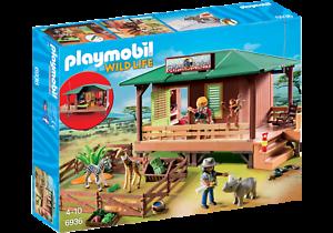 Station de gardes forestières Playmobil Wild Life 6936 avec élevage d'animaux neufs et