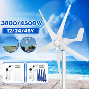 4500W-Max-Power-DC12-24-48V-3-5Blades-Wind-Turbines-Generator-Charge-Controller