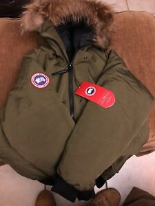 Canada-Goose-Chilliwack-Bomber-Men-039-s-Size-XL-Military-Green-Coat