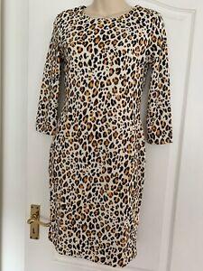 d6b5199bab9b2 BNWT H&M Leopard Print Body Con Bardot Dress Size XS (6-8) | eBay