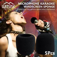 5x Mic Foam Windscreen Shield for Handheld Microphones Karaoke Sponge Windshield