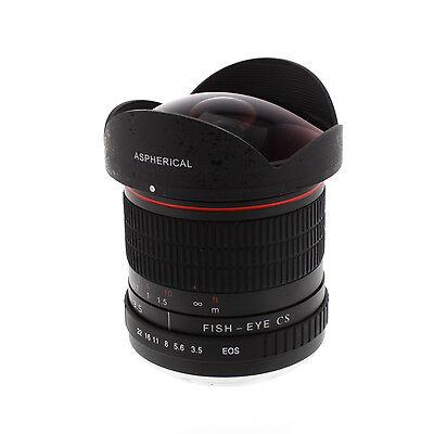 8mm f/3.5 Fisheye Lens Wide fo Canon EOS 7D 70D 60D 700D 70D 80D 7100D 450D 600D