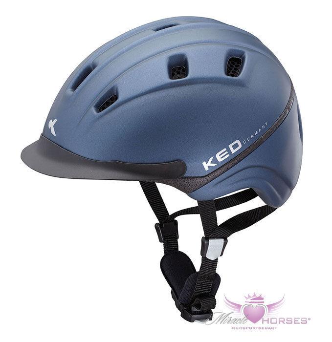 KED® BASCO Reitkappe mit Sicherheitsblinklicht dunkel blau S (48-54)