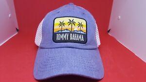 3272c26e8 TOMMY BAHAMA Men's Logo White/Blue Mesh Adjustable hat   eBay