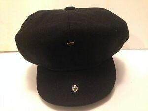 MENS-WOOL-BLEND-BLACK-BAKER-BOY-CAP-NEWSBOY-PAPERBOY-8-PANEL-HAT-1920-039-s-STYLE