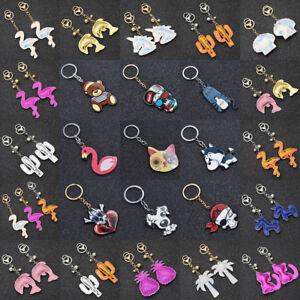 Schluesselanhaenger-Flamingo-Katze-Taschenanhaenger-Laser-Tiermotiv-Gecshenk-Deko