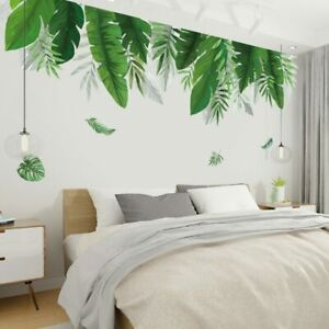 Tropical-Plants-Green-Leaf-Wall-Stickers-for-Living-Room-Bedroom-Art-Decals-DIY