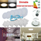 6W 9W 12W 15W 18W 21W Dimmable LED Recessed Ceiling Panel Light Ampoules Lampe
