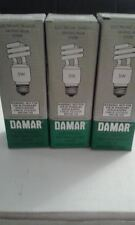 3 each DAMAR 5W- 277VAC  self-ballasted energy-saving light bulb  #31613A 60HZ