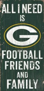 Green-Bay-Packers-Football-Friends-amp-Family-Sign-6-034-x-12-034