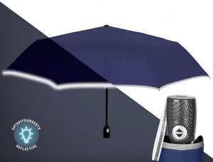 Men/'s Compatto Antivento Automatico Apri /& Chiudi Ombrello Nero con fibra di vetro