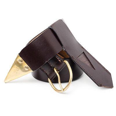 KT Quality Leather Knights Templar Belt & Frog KT Regalia Masons Freemason