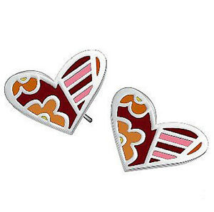 Stainless-Steel-High-Quality-Colourful-Candy-Modern-Hearts-Stud-Earrings-E68