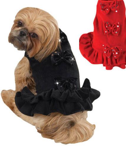 VELOURIA BOW PARTY DOG DRESS