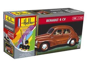 Heller-1-43-Renault-4-CV-Gift-Set-56174