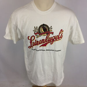 1f47b9edf990 Image is loading Vintage-Leinenkugels-Beer-White-T-Shirt-Brewing-Company-