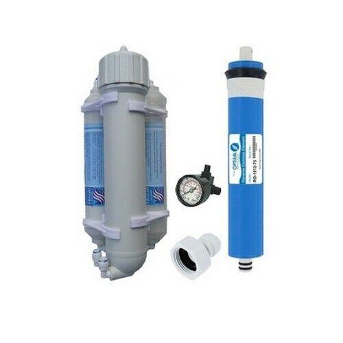 Osmoseur aquarium et manometre 50 GPD 190 lJ