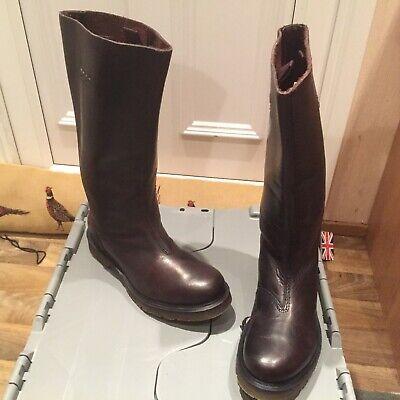 Martens Lyanna polished buttero high heel leather boots UK 4 EU 37 Dr