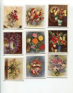 1937-GODFREY-PHILLIPS-CIGARETTES-FLOWERS-STUDIES-16-DIFFERENT-CARD-LOT