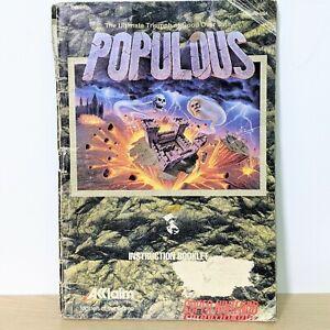 Populous SNES Super Nintendo Instruction Booklet Manual
