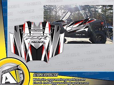 Polaris RZR 900 XP UTV Wrap Graphics Decal Kit 2011-2014 Skull Rider Orange