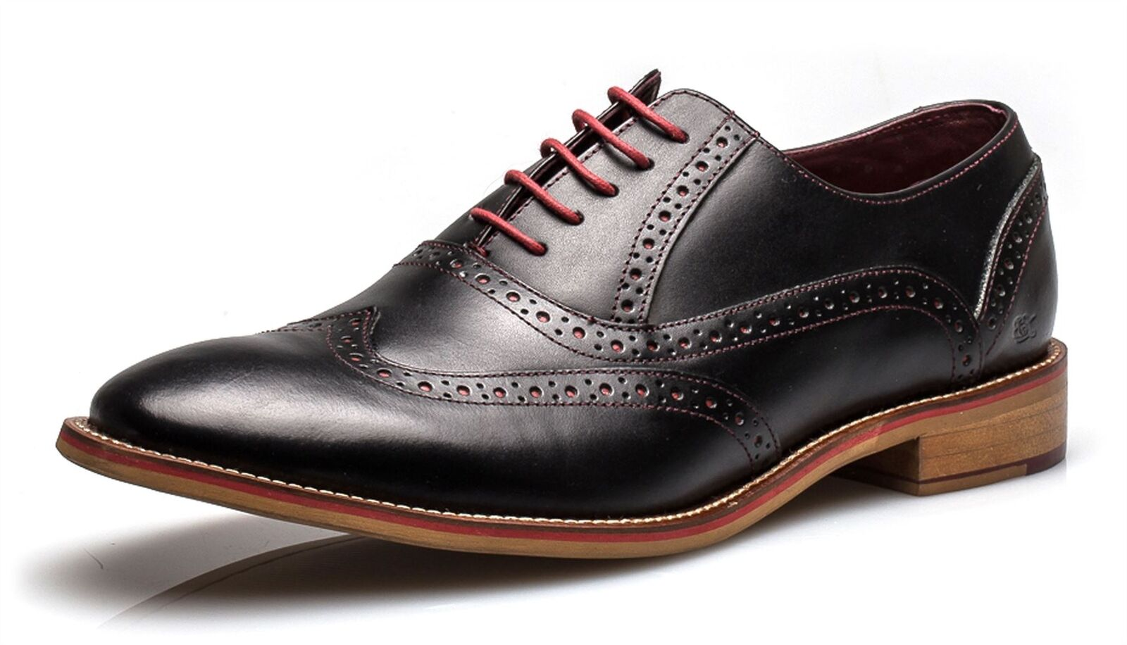 London Brogues George Mens Lace Up Brogue Formal Shoes Black