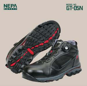 NEPA Zapatos Seguridad Trabajo botas GT-05N Dial Fastener Puntera De Acero nos M System 7-11