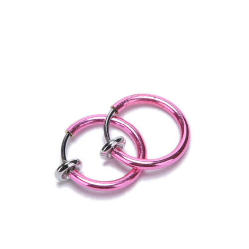 Special Clip On Fake Nose Hoop Ring Ear Septum Lip Navel Eyebrow DS