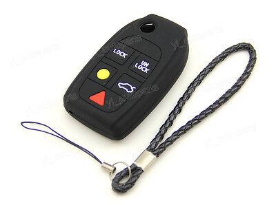 Silicone Skin Cover fit for VOLVO C30 S60 V50 V70 XC70 XC90 Remote Flip Key LG