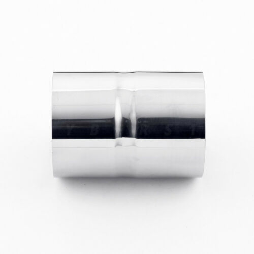 "3.5/"" ID to 3.5/"" ID 5/"" Long Polished Stainless Steel Exhaust Pipe Tip Connector"