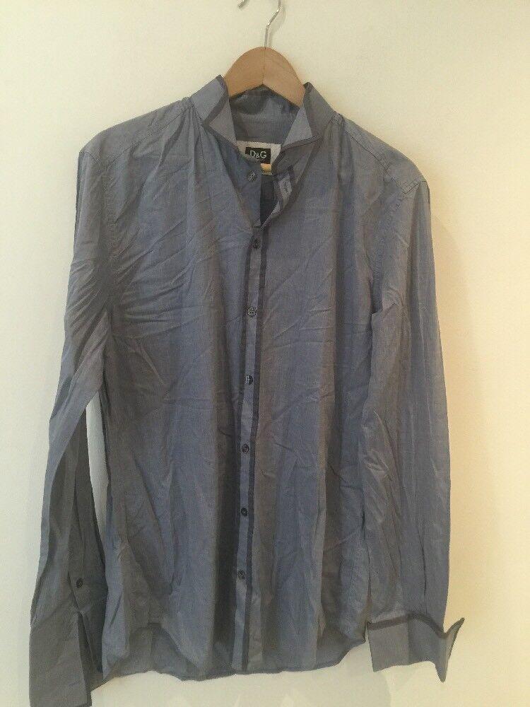 D&G Men's Grey Long Sleeve Shirt Size 52