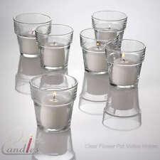 Eastland Votive Candle Holders Glass Flower Pot Set of 12, Home & Event Decor